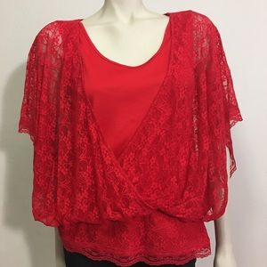 Style & Co. Red blouse size L